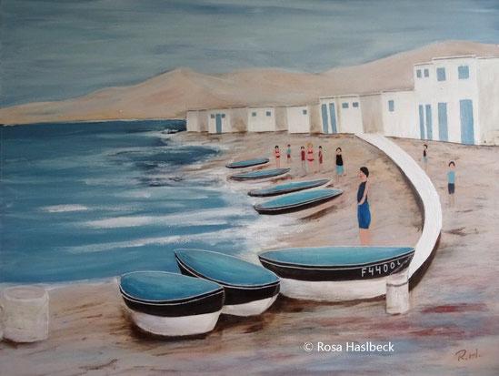 acrylbild, acryl, bild, menschen, kunst, bild, malen, malerei, blau, weiß, braun,  dekoration, wandbild,