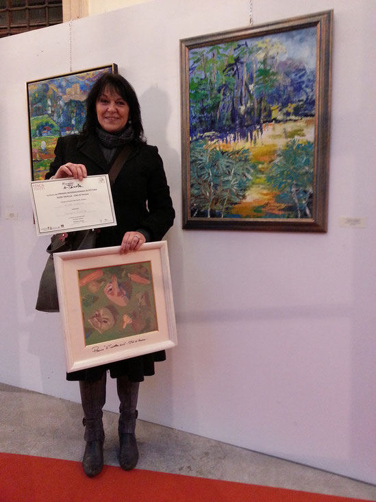 """Itaca Gallery, Verona - Vincitrice del Premio A. Tavella-Città di Verona 2013"""" con l'opera """"L'Isola Misteriosa"""""""