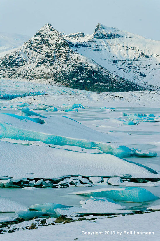 Rolf Lohmann Bildarchiv Island: Eisplatten bei Sveitarfélagið Hornafjörður. Reisefotografie, Landschaftsfotografie, SONY Alpha 99. bonnescape.de