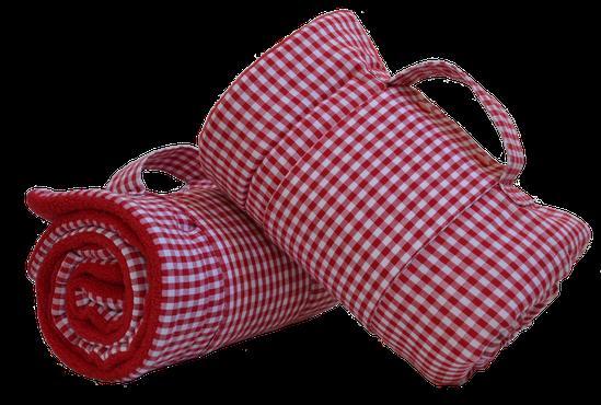 Hundedecke MOMO rot-weiß kariert im Shop der Hundeschule MOMO - Hundeschule Bremen & Lilienthal