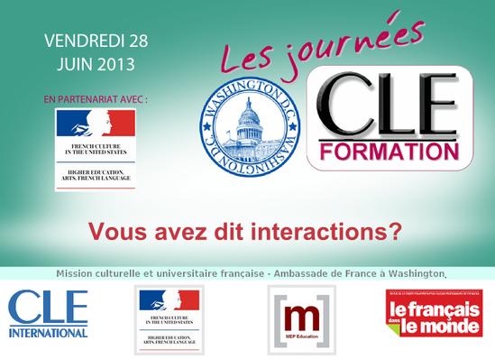 Affiche des Journées CLE Formation à Washington - 2013