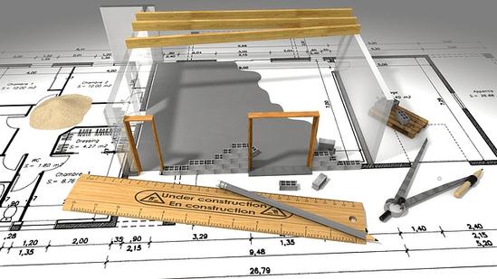 Grundriss  eines Hauses - genaue Planung ist eine halbe Miete - Foto Pixabay