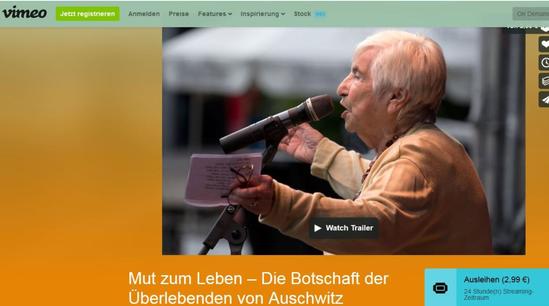 Der Film mit Esther Bejarano: Mut zum Leben - die Botschaft der Überlebenden von Auschwitz