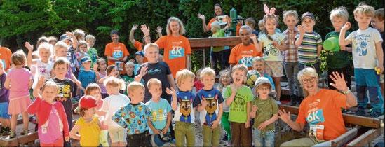 Voll motiviert: Auch der Schenefelder Kindergarten nimmt am Spendenlauf teil.