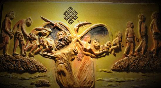 Samsara- Kreislauf der Geburten & Tode....Relief 2014 by Shakact