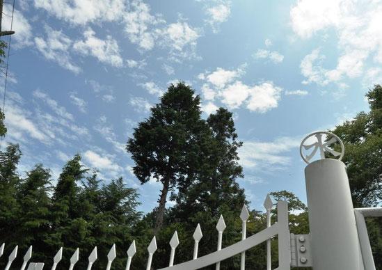 三日町配水池(後述)のいい感じのゲートと意匠