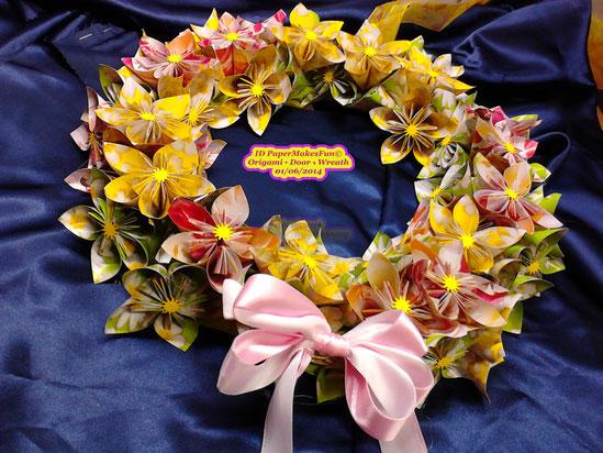 Origami - Flower - Door - Wreath