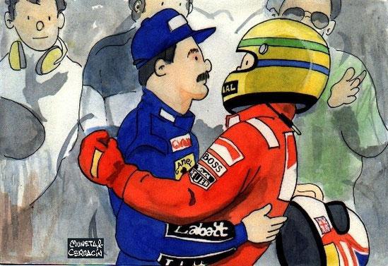 Mansell & Senna by Muneta & Cerracín