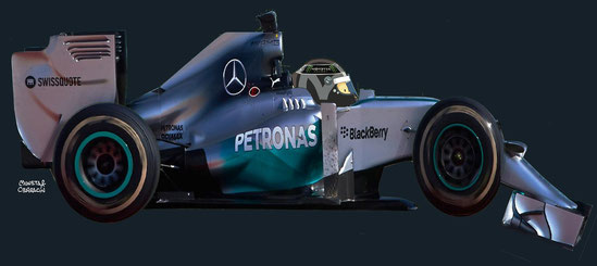 Nico Rosberg by Muneta & Cerracín - Mercedes F1 W05 Mercedes PU106A V6 del Mercedes AMG Petronas F1 Team