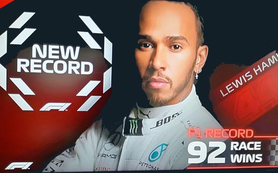 NEW RECORD LEWIS HAMILTON 92 RACE WINS