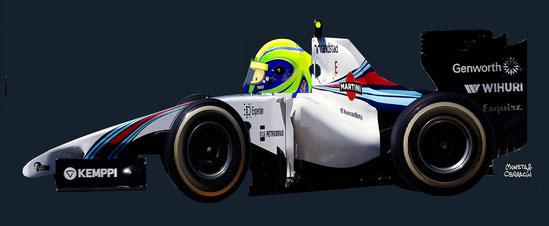 Felipe Massa by Muneta & Cerracín - Felipe Massa con su Williams FW36 Mercedes PU106A V6
