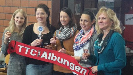 Hessenpokal-Sieger: (von links) Nele Freitag, Martina Becker, Ines Reifenstahl, Annika Oesterheld und Christa Beck.
