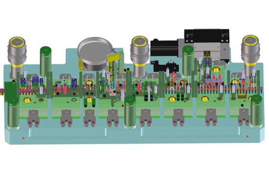 3D Darstellung eines Folgeverbundwerkzeug