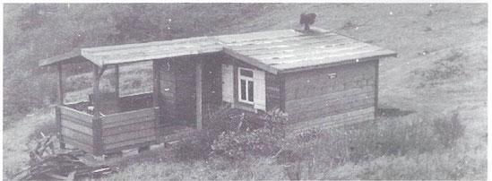 Die erste Hütte auf dem Eichholzkopf