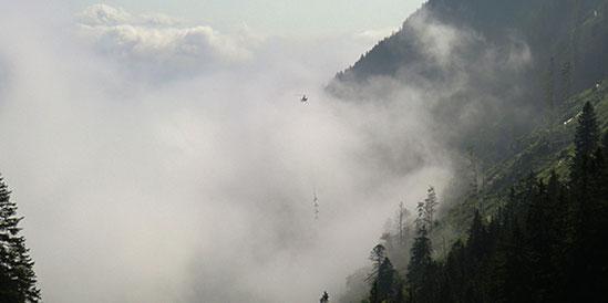 Lastentransporte im Gebirge