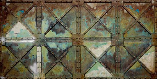 Kunststoff Stahlpaneele für Wandgestaltungen im Industrie Look oder Vintage Design