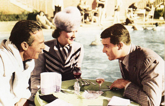 """Dunne with Randolph Scott and Cary Grant in """"My Favorite Wife"""", 1940"""