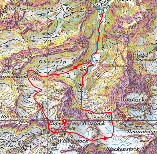 Skitour, Uri, Isenthal, Engelberger Rotstock, Rundtour, St. Jakob, Schweiz