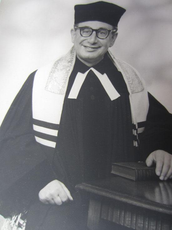 Darmstadts Letzter Liberaler Rabbiner vor dem Holocaust: Dr. Erich Bienheim - musste vor den Nazis ins englische Exil fliehen / Foto: FLS-Archiv