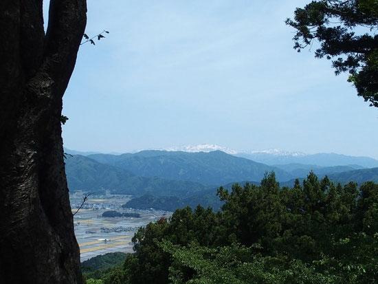 白山を遥拝する。 気分爽快!!
