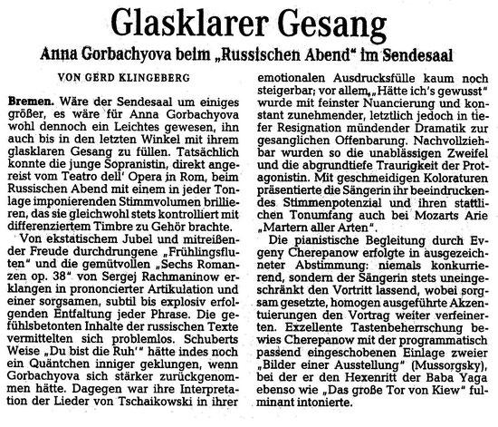 Weser Kurier, 13.12.2014