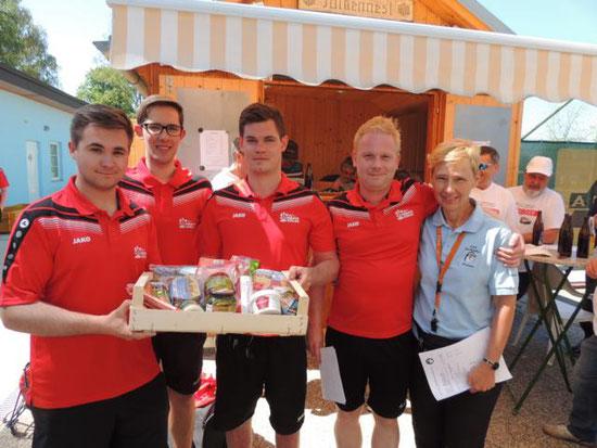 Sieger des Vormittagsturnieres: ESV Limbach 2 mit Hackl Patrick, Ganster Manuel, Bartoschitz Martin und Riegler Matthias