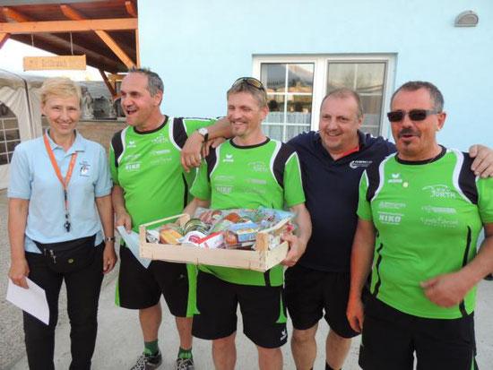 Sieger des Nachmittagsturnieres: ESV Schneerose Furth mit Fuchs Manfred, Reischer Johann, Reischler Karl und Brettl Günther