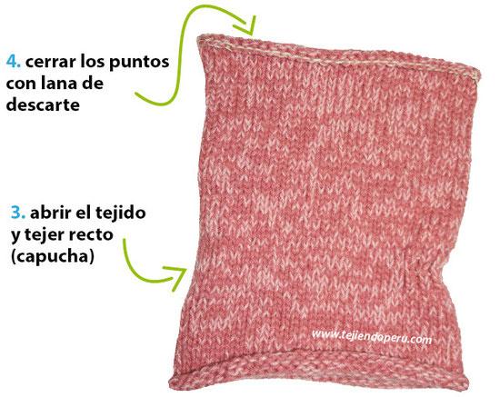 Cómo tejer un cuello con capucha con orejas de oso / Knitted bear hooded cowl