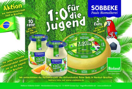 Nicht vergessen: Joghurt und Käse für den guten Zweck, siehe weiter unten!!