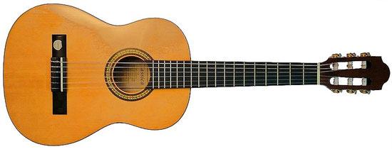 Konzertgitarre 1/2 Größe für 6-10 jährige Schüler.