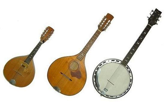 Mandoline klein, mittel, Gitarrenbanjo