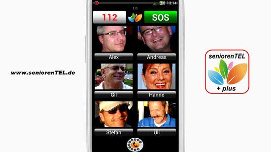 Nutzung der Handy-Funktionen bei seniorenTEL+: