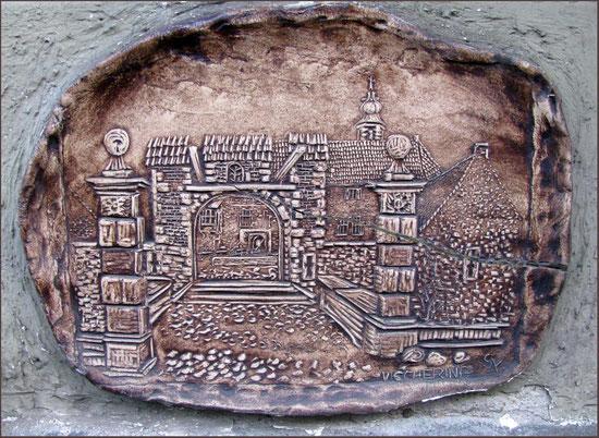 Diese Tontafel von Burg Vischering habe ich in Werne an einem Haus in der Burgstraße entdeckt.