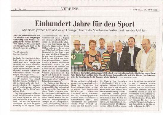 Saarbrücker Zeitung vom 14.06.2011