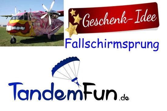 Fallschirmspringen Tandemsprung Rothenburg ob der Tauber mit Tandemfun Edi Engl