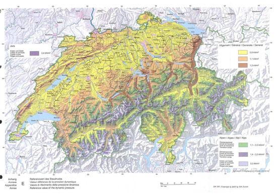 Windlastkarte Schweiz