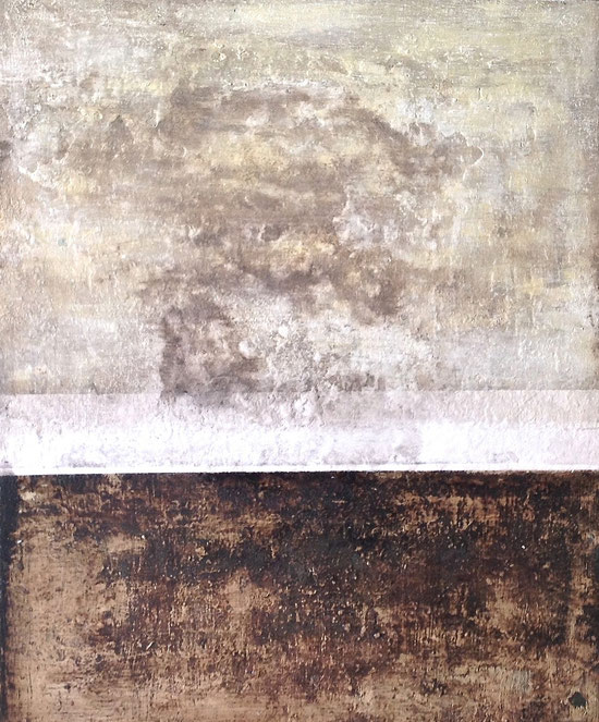 Caves - Acrílico sobre tela/cartón - 46W x 55H x 1,5cm