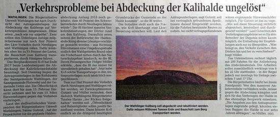 Quelle: Cellesche Zeitung, 20.01.2018