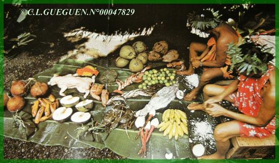 La préparation pour le four Tahitien...