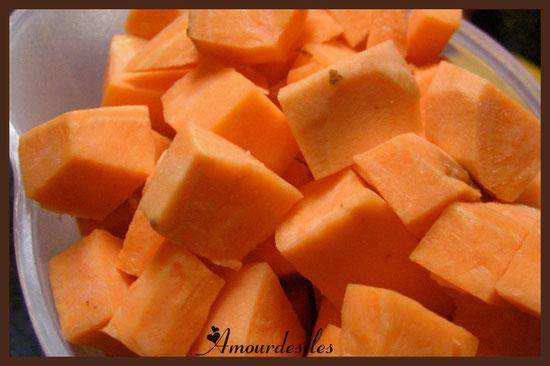Patates douces orangées