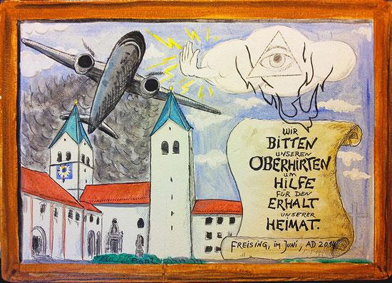 Votivbild für Kardinal Marx: – Plane Stupid Germany