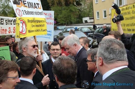 Seehofer Protest Moosburg