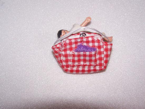sac bébé vichy rouge
