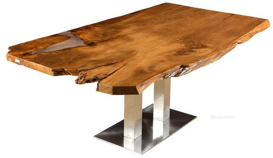 Einzigartiger Kauri Esstisch aus Wurzel und Stamm, kunstvolle Unikat Tischplatte, Naturholztisch