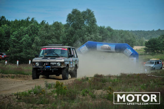 Breslau 2016 unser STrange Rover am Start in der Extrem Class