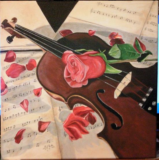 """""""La mia musica migliore""""_acrilico su tela_40x50_2014"""