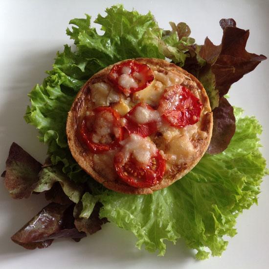 Mini tomatenquiche.