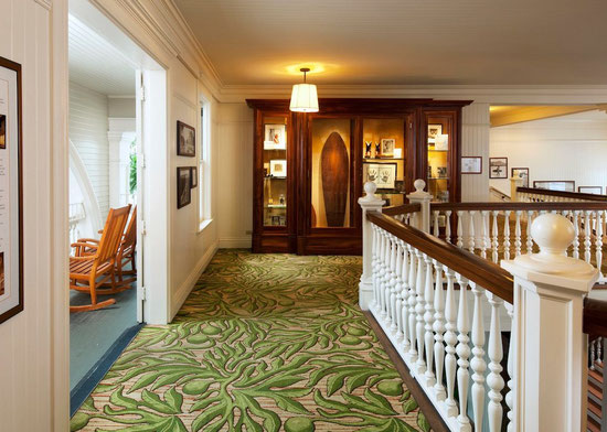 Historical floor at Moana Surfrider