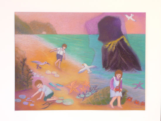 Fairy-godmother on Benbecula 42.5cmx52.5cm