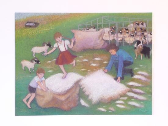 Shearing day 42.5cmx52.5cm